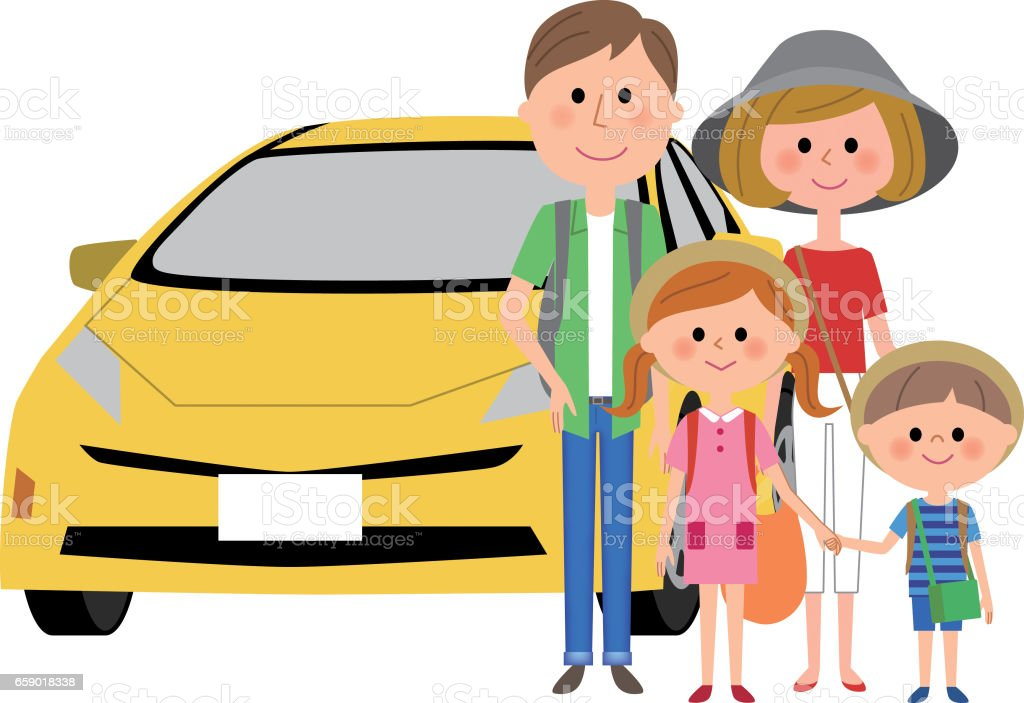 Family and car royalty-free family and car stock vector art & more images of adult