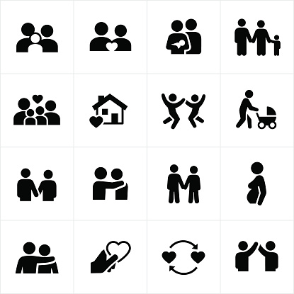 Family and Couple Relationships Icons
