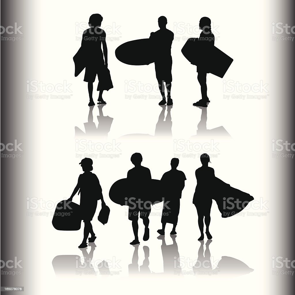 Family and Friends Shadow Series vector art illustration