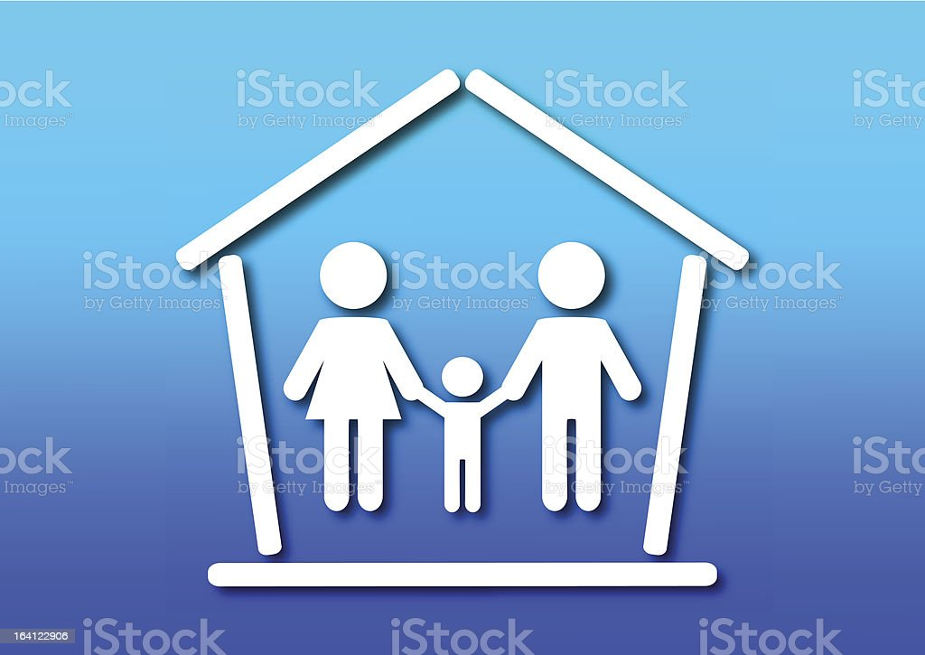 Family and home concept royalty-free stock vector art