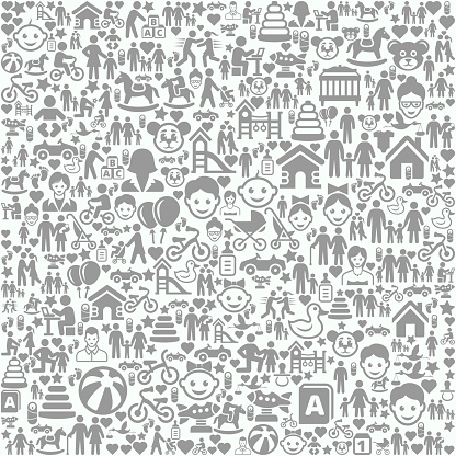 Family and People on Seamless Background