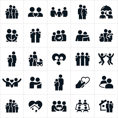 Family and Relationships Icons clipart