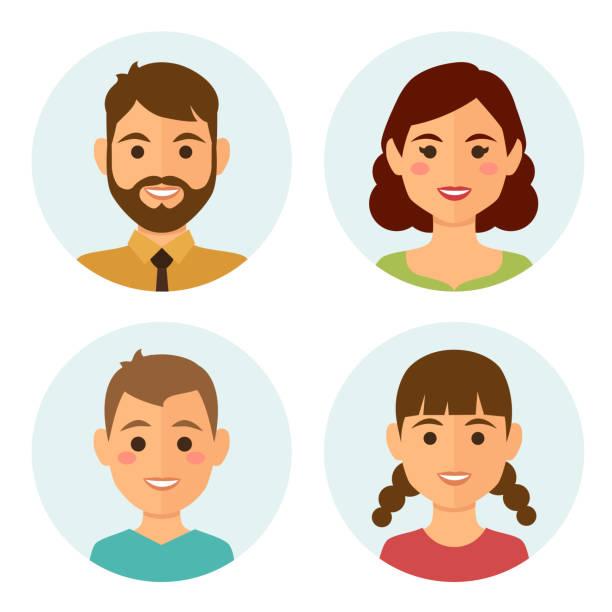 Avatares de la familia - ilustración de arte vectorial