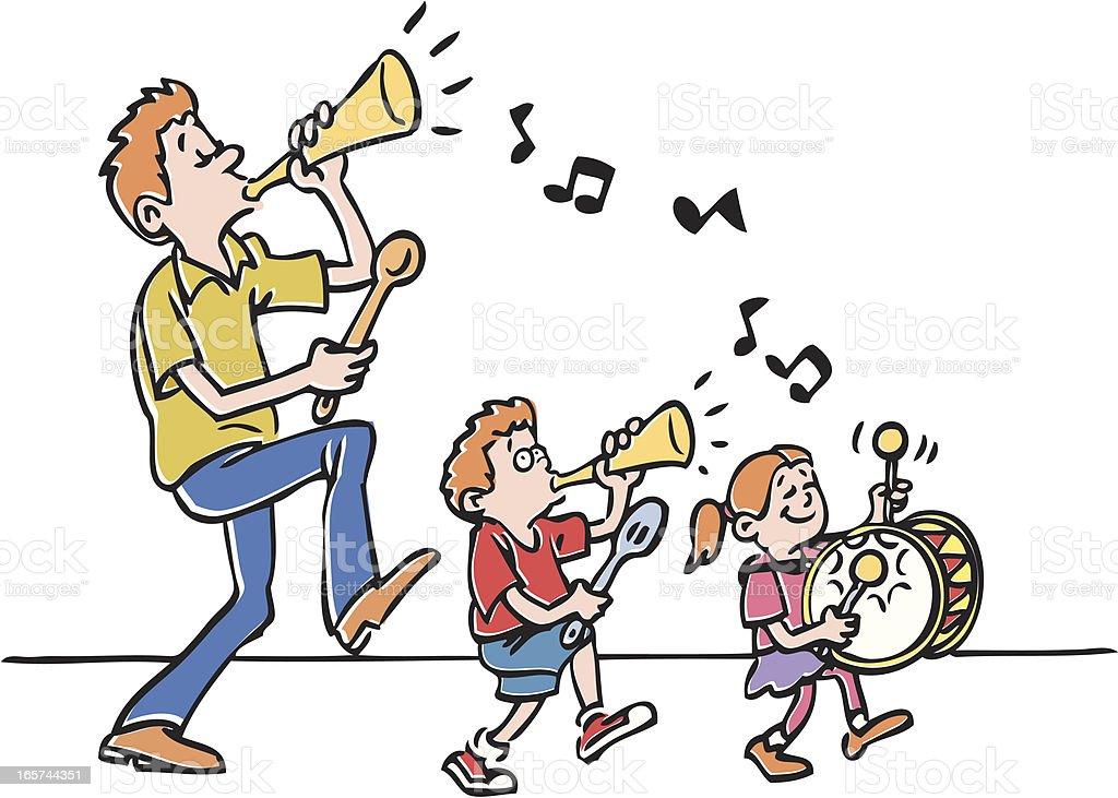 Family Band royalty-free stock vector art