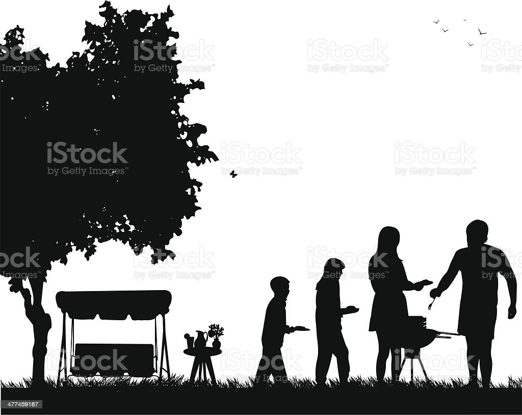 royalty free family bbq clip art vector images