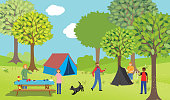 istock A Family Camping In The Woods 1252662893
