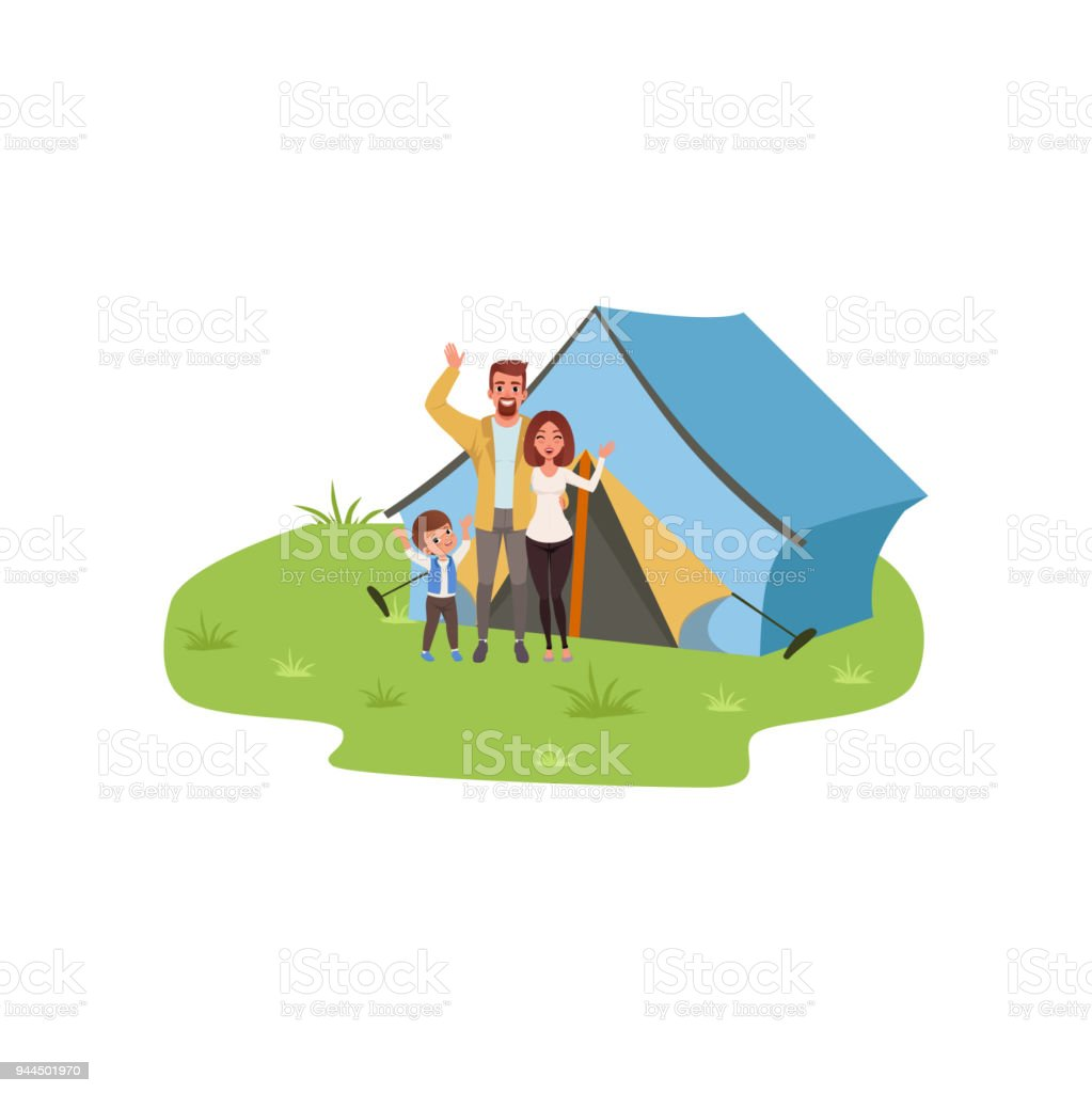 Family Camping Traveling And Relaxing Concept Summer Vacations Rh Istockphoto Com