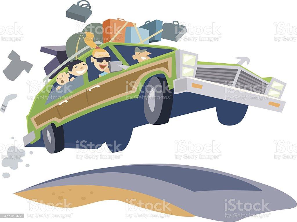 Family Car Trip C vector art illustration