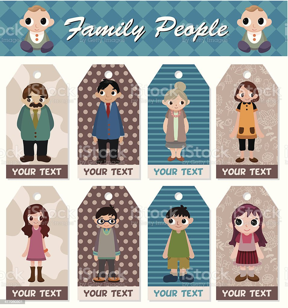 family card vector art illustration