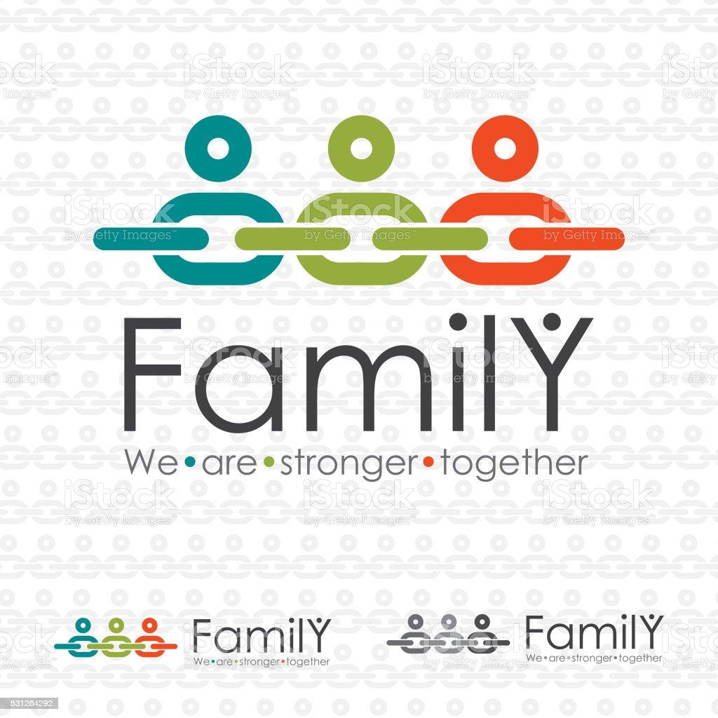 Family Chain Icon vektör sanat illüstrasyonu