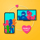 Paper craft of online family chat through mobile apps leads to effective communication in family relationships