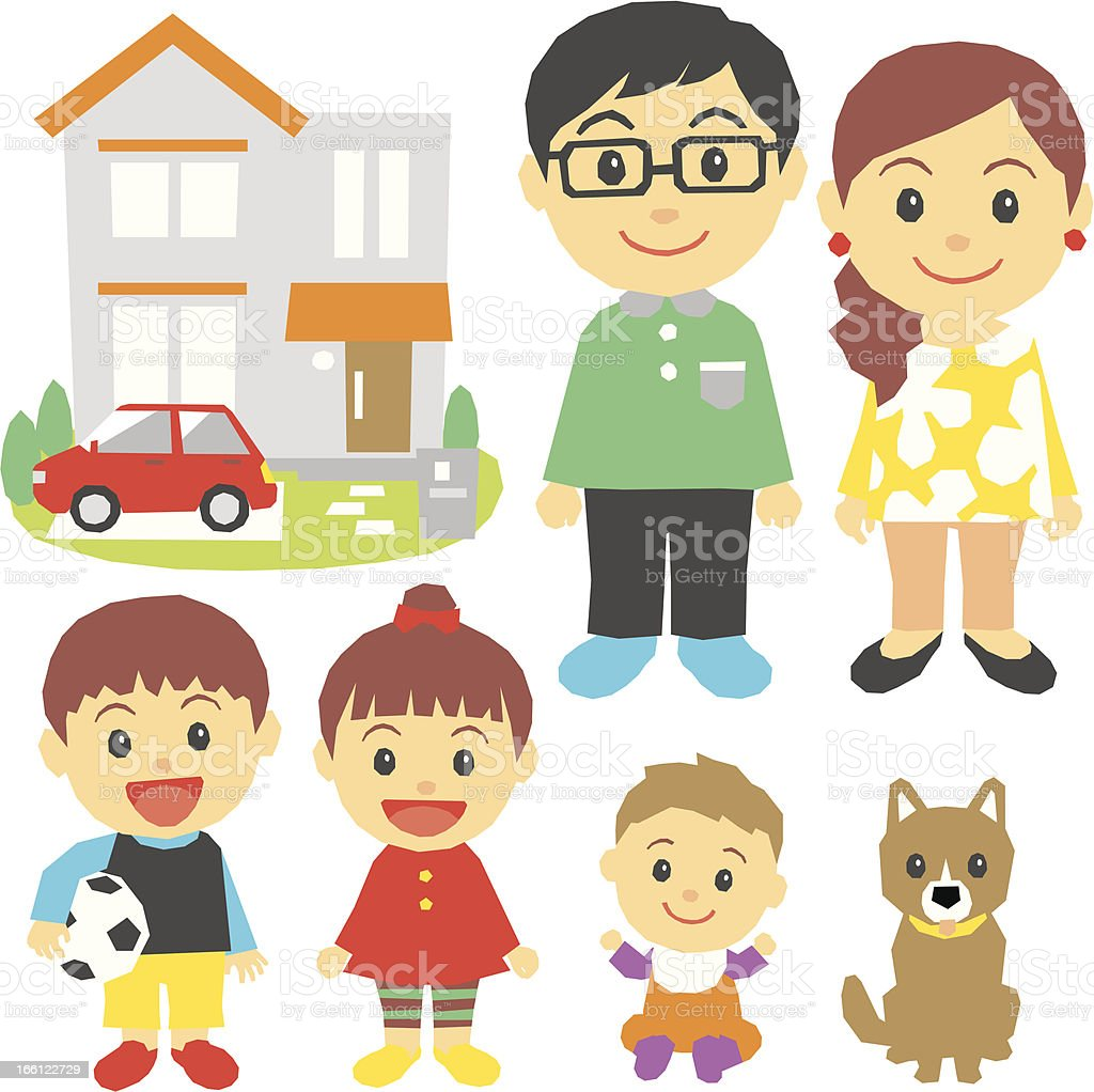 family, children, house, car, dog royalty-free family children house car dog stock vector art & more images of adult