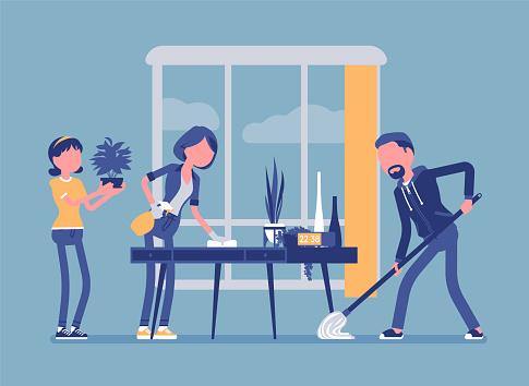 Household chore stock illustrations