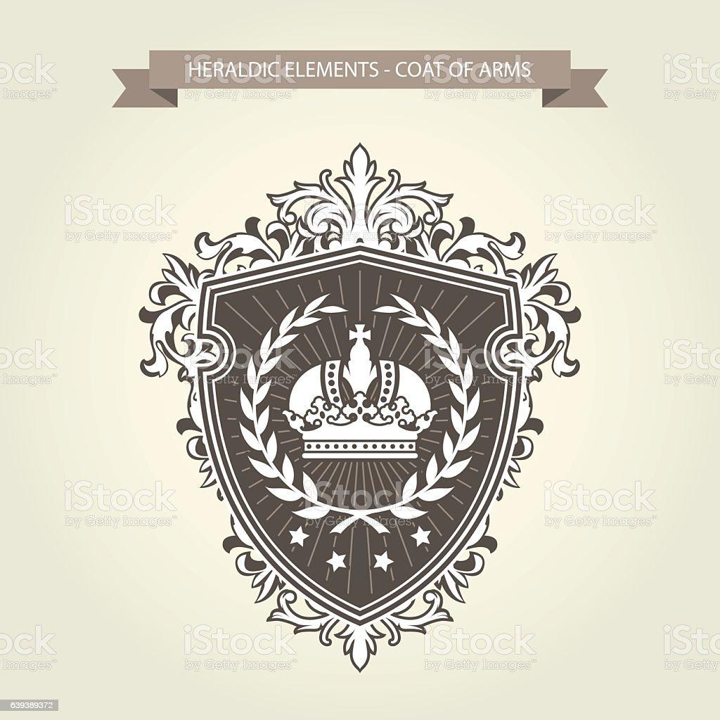 Family coat of arms - heraldic shield - ilustração de arte em vetor