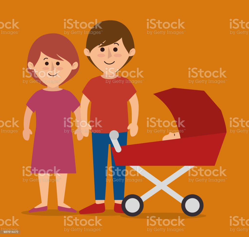 Family Colorful Cartoon Stock Vector Art & More Images of Adult ...