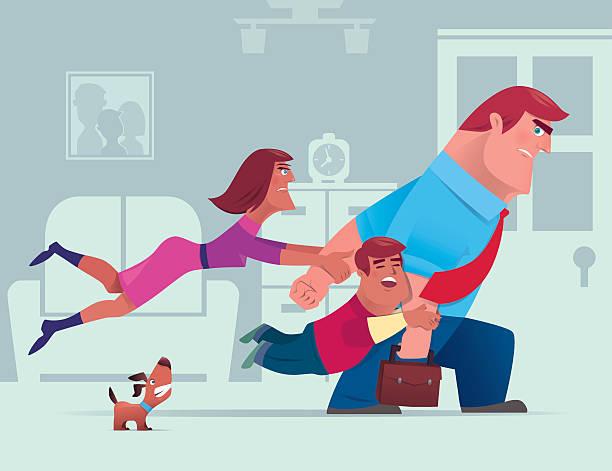 familie-konflikt - arbeitshunde stock-grafiken, -clipart, -cartoons und -symbole