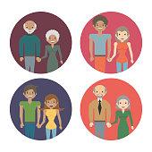 family couple members love image vector illustration eps 10