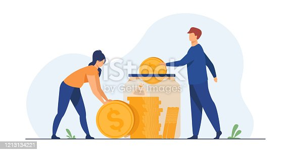 istock Family couple saving money 1213134221