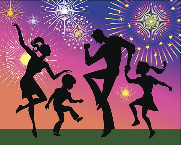 family dancing c - daughter stock illustrations, clip art, cartoons, & icons