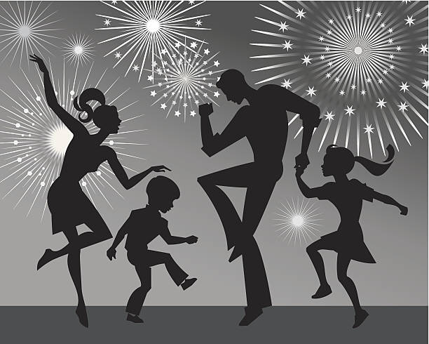 family dancing - daughter stock illustrations, clip art, cartoons, & icons