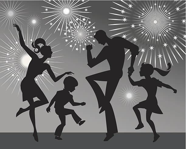 ilustraciones, imágenes clip art, dibujos animados e iconos de stock de familia de baile - hija