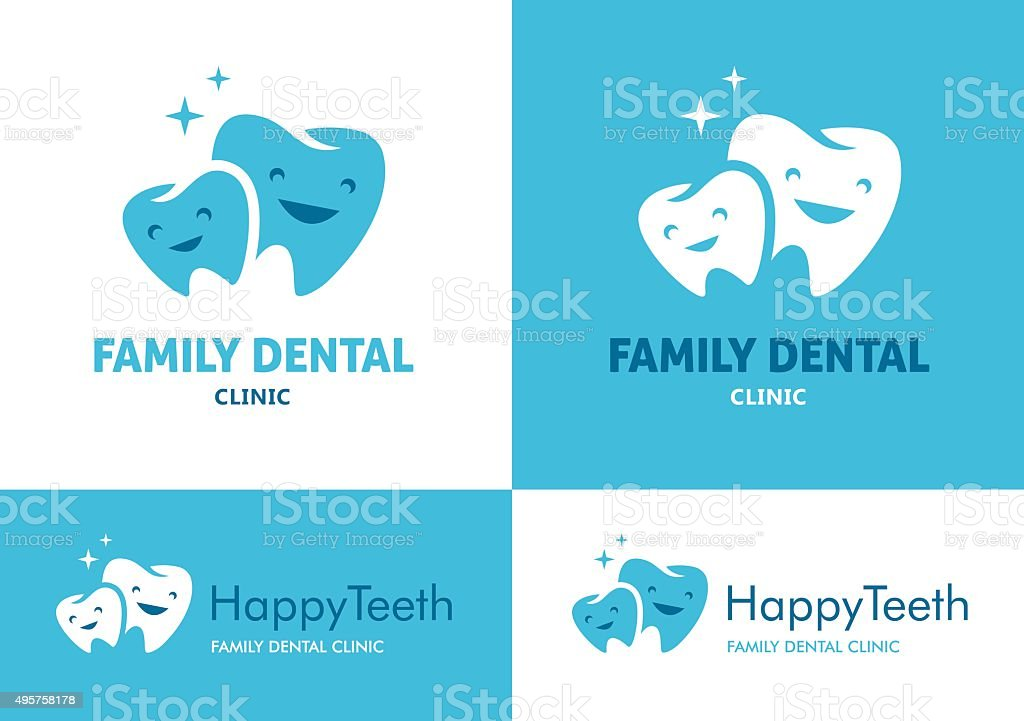 Family dental clinic vector art illustration