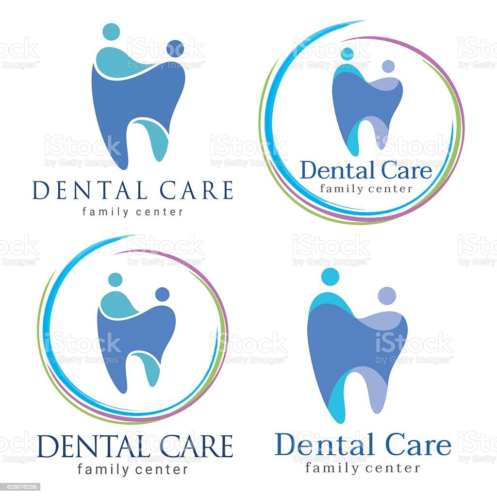 family dental vector art illustration
