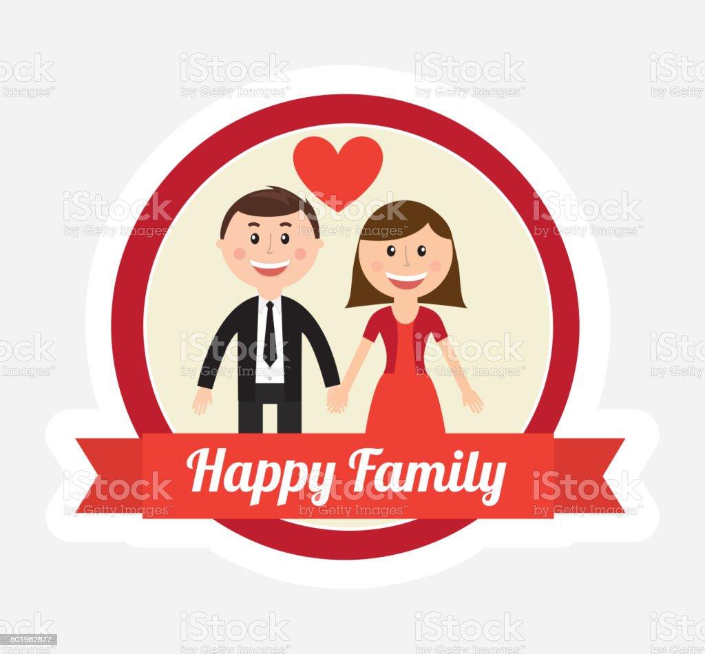 family design vector art illustration