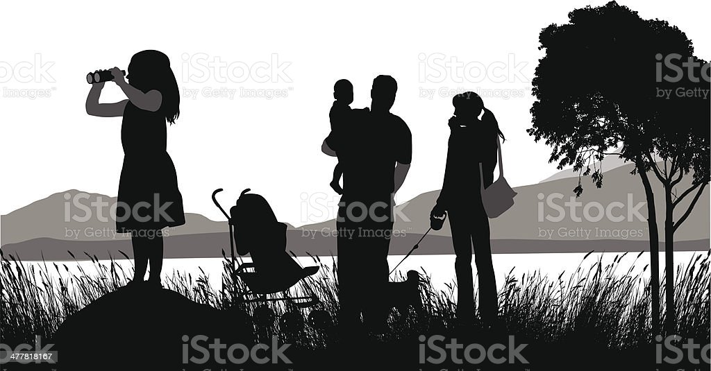 Family Destination royalty-free stock vector art