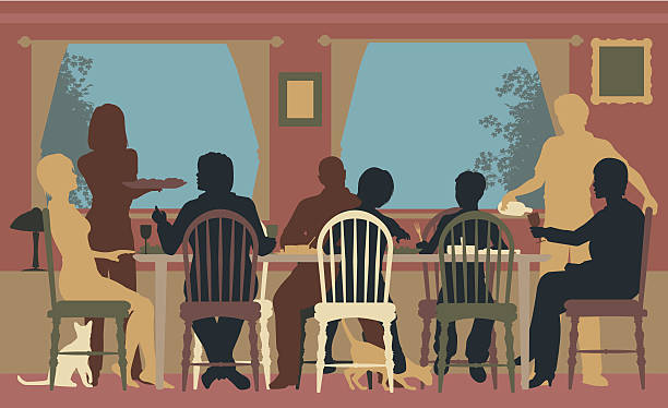 Best Dinner Table Illustrations, Royalty-Free Vector ...