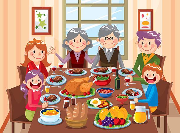 Best Family Dinner Illustrations, Royalty-Free Vector ...