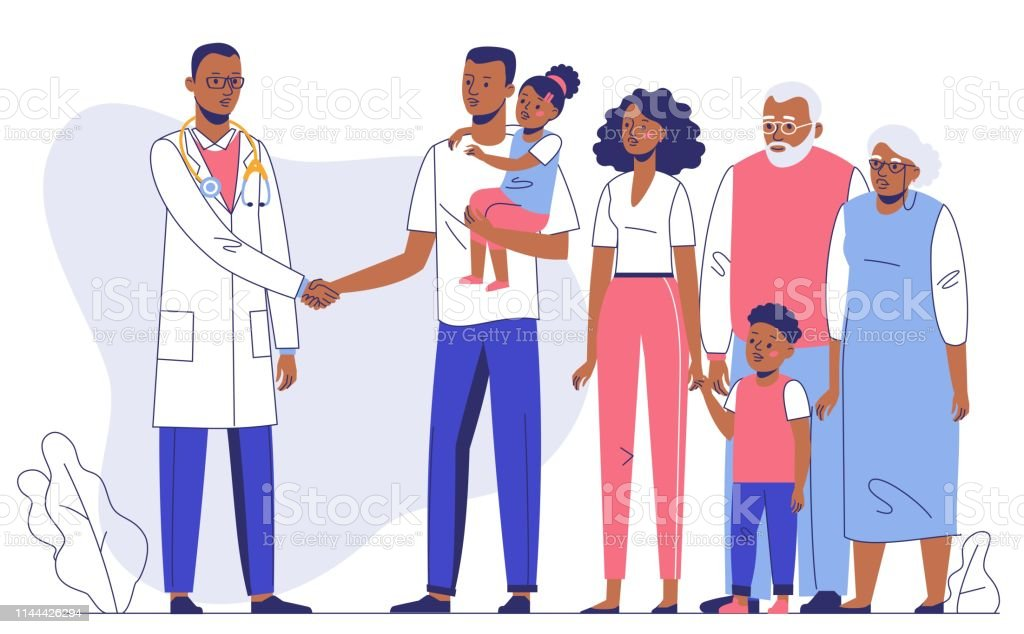 Family Doctor Concept With Ethnic Patients Consultation And Diagnosis In Hospital Stock Illustration Download Image Now Istock