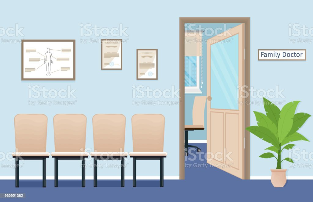 Family Doctors Consultation Office In Private Medical Clinic Waiting Room The Hospital Royalty