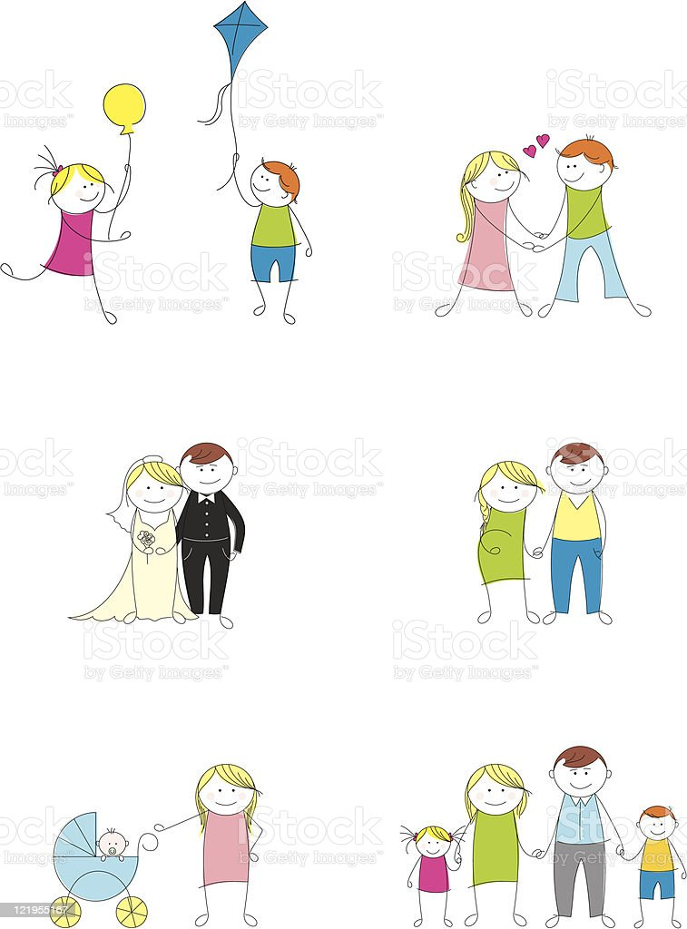 family doodle set royalty-free family doodle set stock vector art & more images of adult
