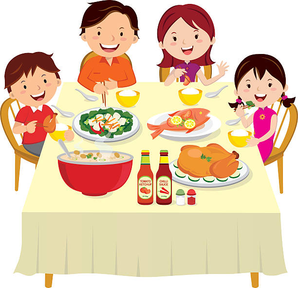 free clipart family meal - photo #22