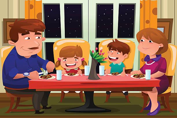 Best Family Dinner Table Illustrations, Royalty-Free ...