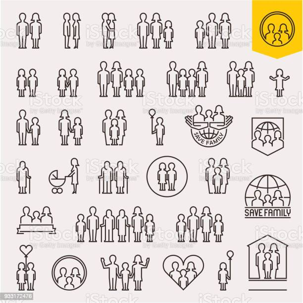 Family family icons set thin line people and family vector icons vector id933172476?b=1&k=6&m=933172476&s=612x612&h=ft88dx3yz chebvh0xivumemgsca8 t8k69gsnl9yve=