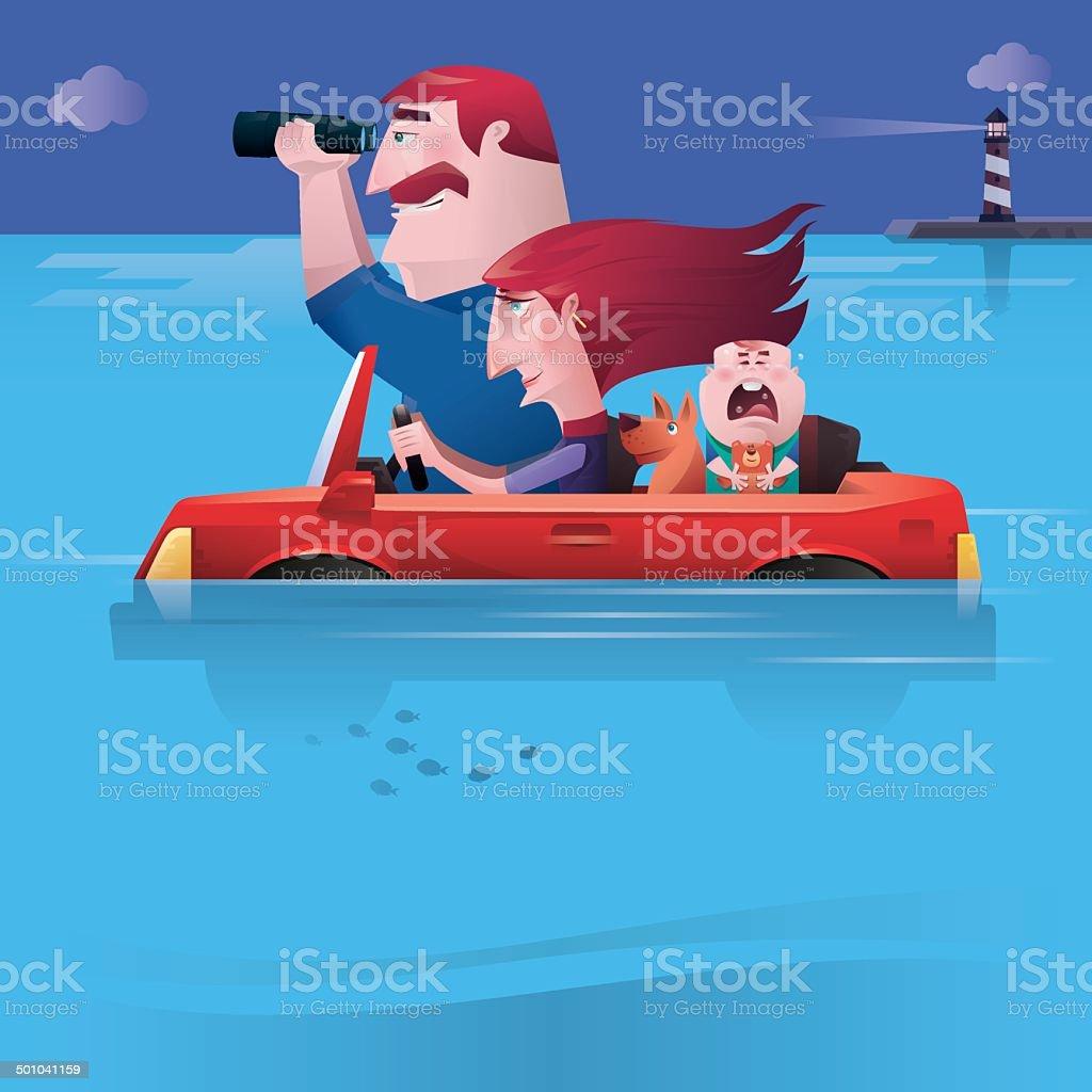 family finding direction vector art illustration