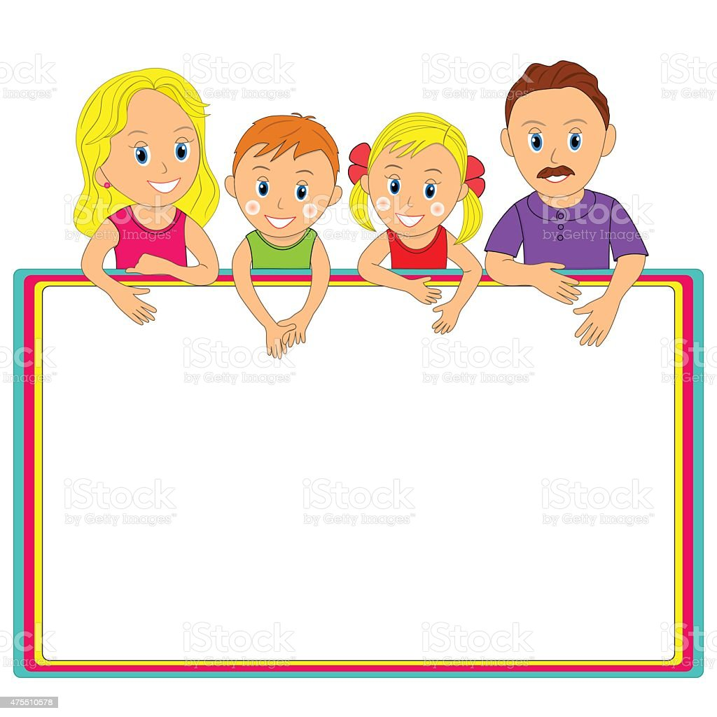 Together Family Picture Frame Clipart