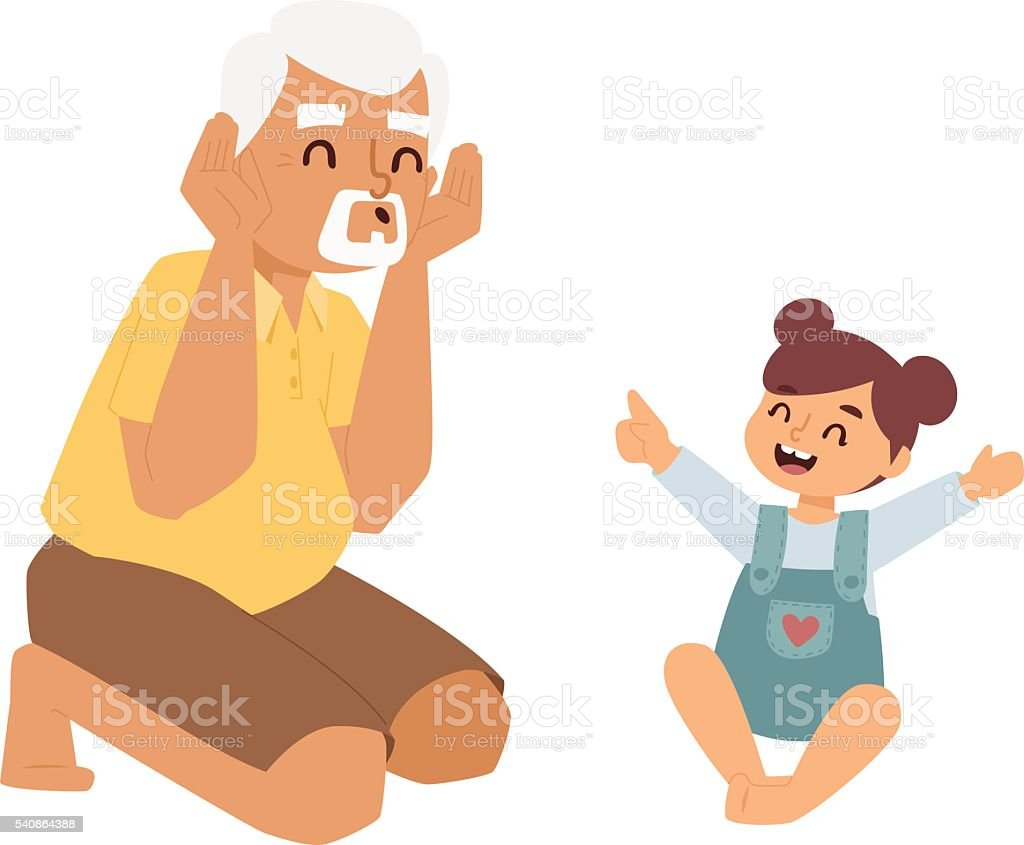 Family games vector illustration. vector art illustration