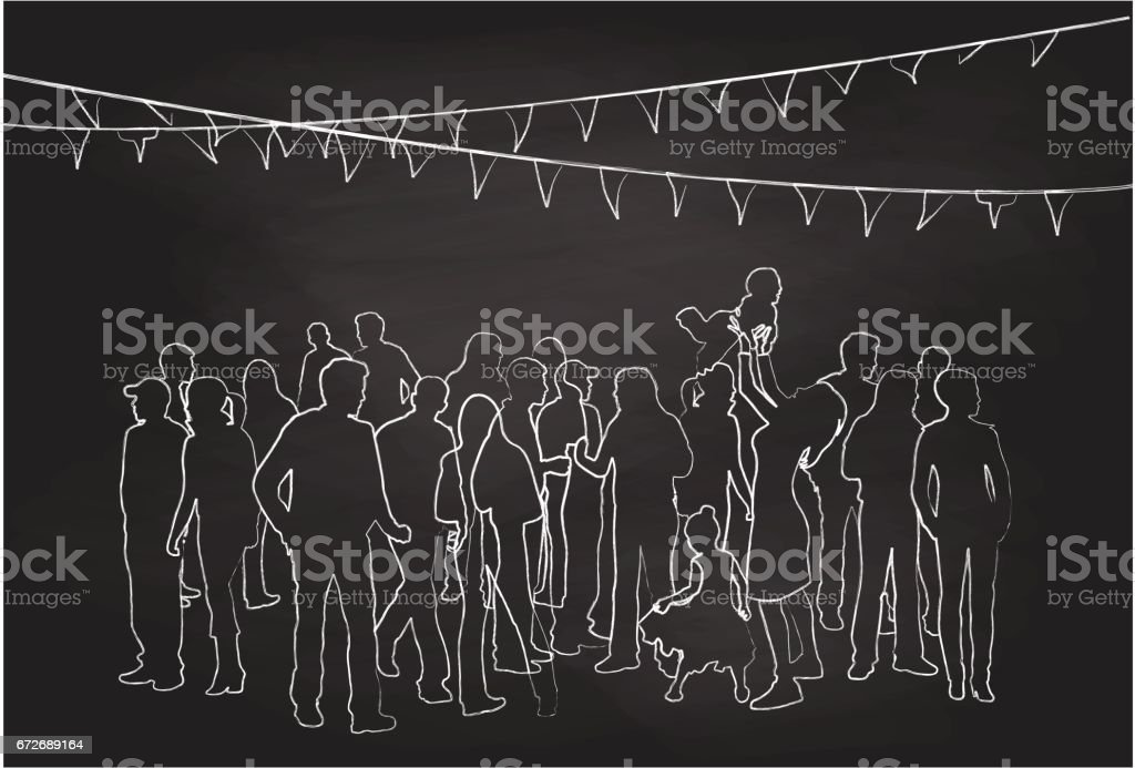 Family Gathering Party vector art illustration