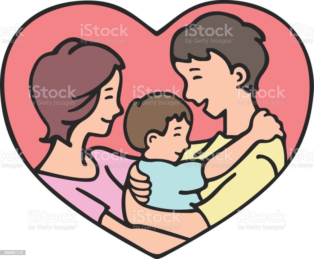 Reunión familiar - ilustración de arte vectorial