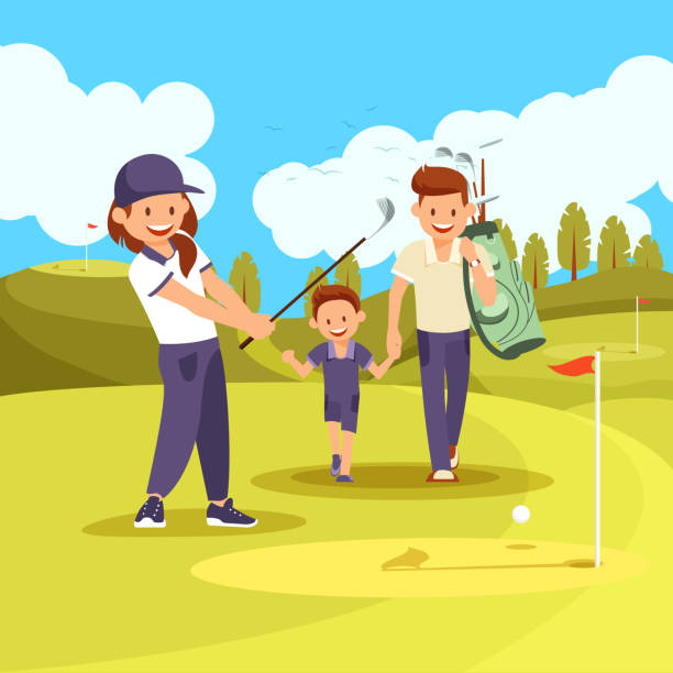 Top 60 Couple Golfing Clip Art, Vector Graphics and ...
