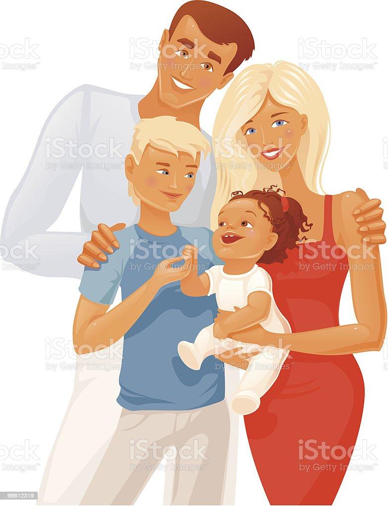 Family group vector art illustration