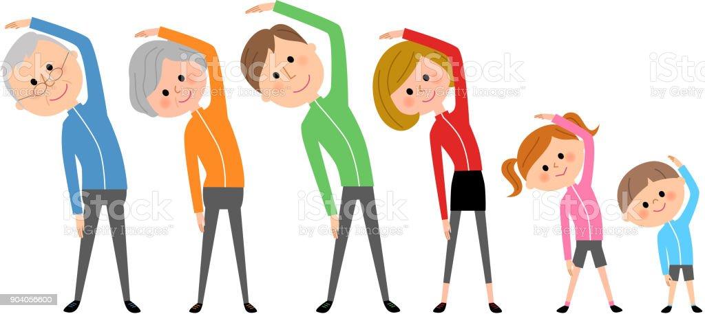 Famille Gymnastique Vecteurs Libres De Droits Et Plus D Images Vectorielles De Adulte Istock