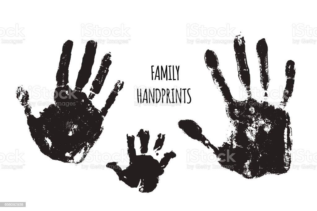 Family handprints vector illustration vector art illustration