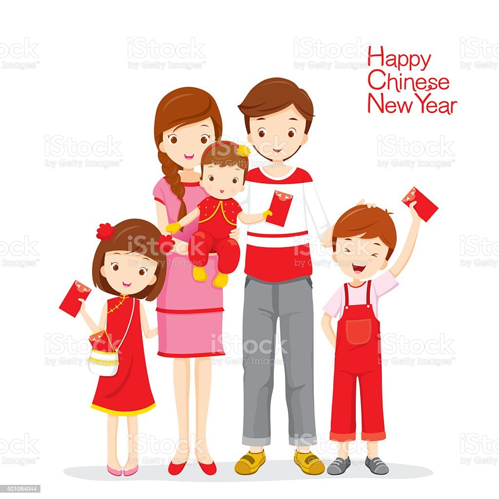 royalty free chinese new year family clip art vector images rh istockphoto com family picture clipart png family clipart pictures free