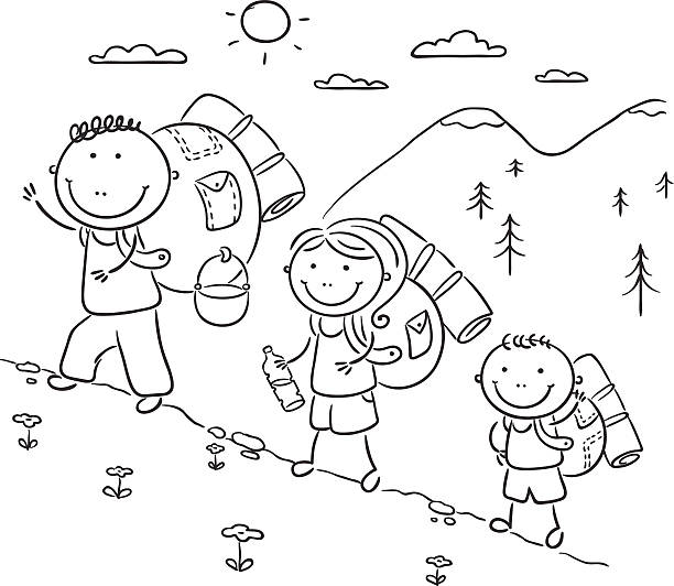 Royalty Free Season Coloring Book Black And White Child
