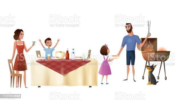Family holiday dinner cartoon vector concept vector id1127010598?b=1&k=6&m=1127010598&s=612x612&h=z4wivp77cm8juip7nuu86lzkhhvbrcurdx  4drk1uw=