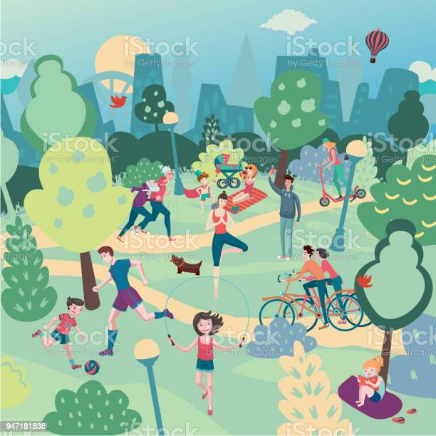 Family holiday on nature aerialview of city park with people summer vector id947181838?b=1&k=6&m=947181838&s=612x612&h= awn54cx9 gsrpb0zf5tuae0m48ywtofi6swx7hymoa=